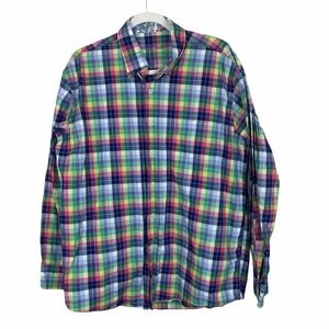 Alan Flusser Plaid Long Sleeve Button Down